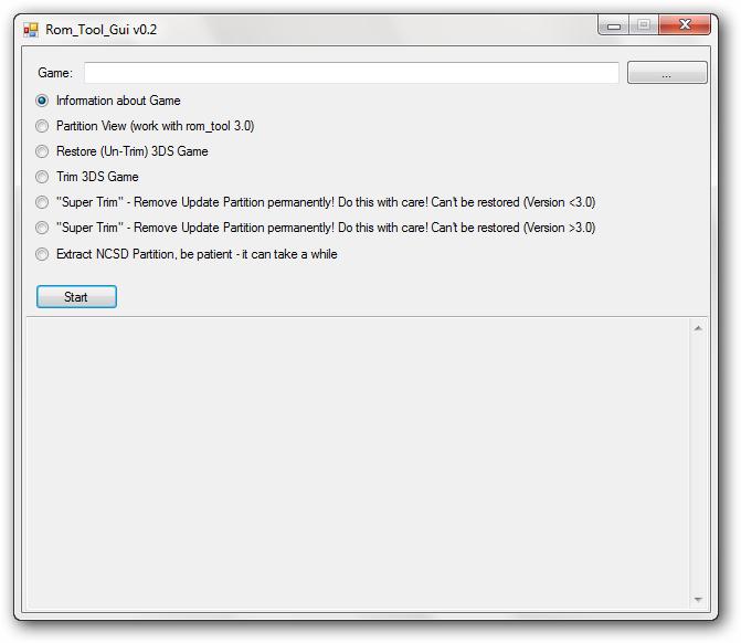 Reducir tamaño de Backups de 3DS con 3DS Rom Tool GUI   NDS