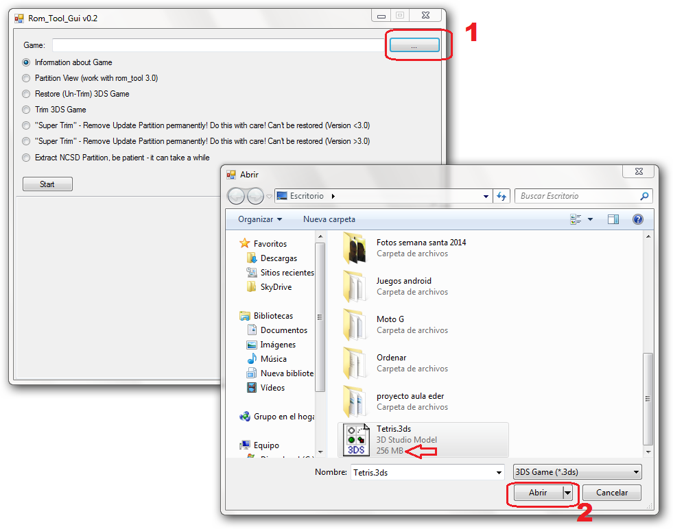 Reducir tamaño de Backups de 3DS con 3DS Rom Tool GUI | NDS